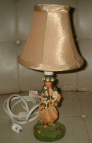 Vintage Hawaiian Hula Girl Lamp & Lampshade