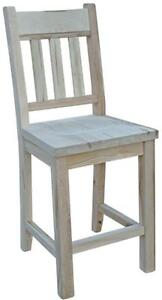 Mennonite handcrafted solid wood bar stools pub chairs - FREE SHIPPING