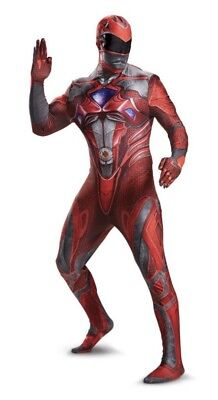 (Red Power Ranger Adult Costume Size XXL Men's NEW in Package by Disguise Rangers)