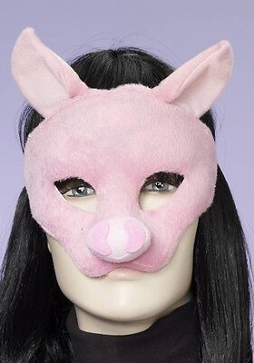 Kids Pig Mask (Pig Mask Soft Plush Pink Halloween Costume Face Childs Boys Girls Adult One)