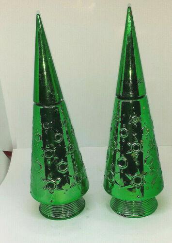 Vintage Green Avon Christmas Tree Bubble Bath Bottle empty