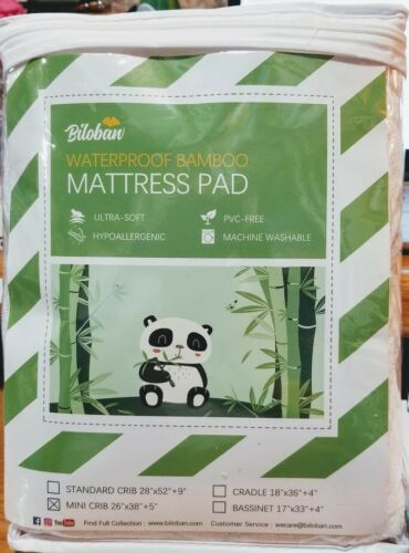 Premium Bamboo, Smooth & Soft Mattress Covers for Mini/Portable Crib Mattress