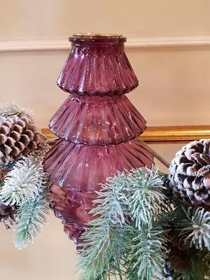 Bello Lanterna a Vento Formina Albero di Natale Decorazione Natalizia IN Vetro