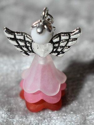 20 rote Schutzengel deluxe Engel Hochzeit Taufe Kommunion Geschenke Anhänger #