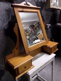 Beautiful Solid Pine Dressing Table Adjustable Mirror with Drawers