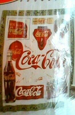 """Coca-cola 70 """" X 72"""" Shower Curtain """" VINTAGE COCA-COLA """" 100% VINYL"""