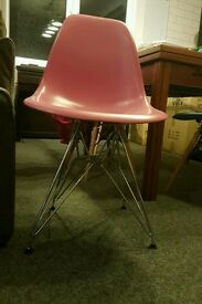 Gorgeous Pink Eames style dining chair