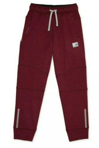 Russell Dri-Power Boy M-XL Sweatpants Tech Fleece Jogger Pocket Burgundy Red