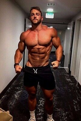 Shirtless Male Athletic Muscle Body Builder Beefcake Muscular Guy PHOTO 4X6 D649