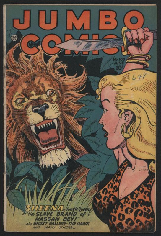 JUMBO Comics #100, 1947, Fiction House