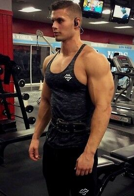 Muscular Male Hunk Beefcake Gym Jock Work Out Athletic Arms Tank PHOTO 4X6 F1552