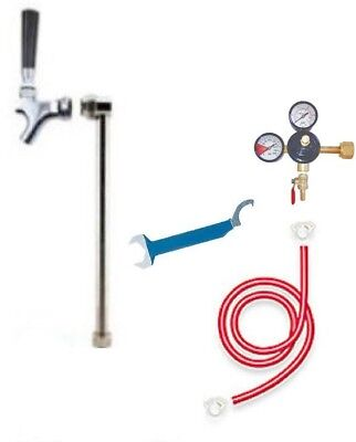 Beer Tap Handle Upright Rod Co2 Kegerator Conversion Draft Faucet Regulator Keg