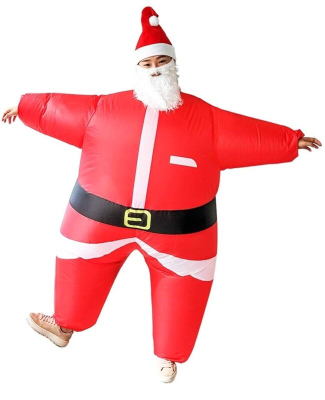 Airblown Inflatable Santa Costume Brand New In Package Battery Operated C2