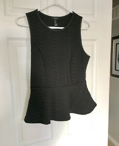 FOREVER 21 PEPLUM TANK TOP-NEW!