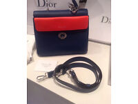 Dior bag blue with red trim for sale