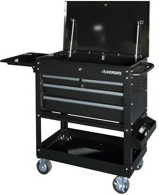 Mechanics Tool/Utility Cart Heavy-Duty with Extended Side Ta