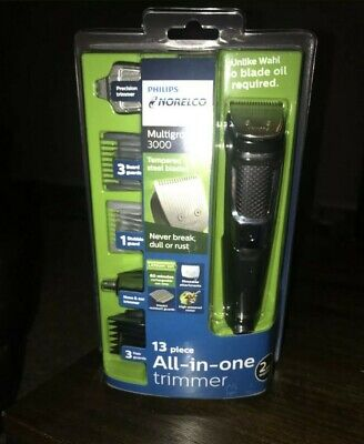 Philips Norelco Multigroom Trimmer 3000 All-in-one 3 Hair Guards Hair Clippers