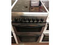 INDESIT STAINLESS STEEL FREE STANDING 50cm ELECTRIC COOKER,