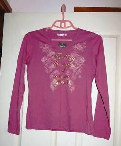 New Woman's Pink Tee with Long sleeves - Bossini - Size M Eastwood Ryde Area Preview