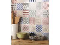 Batik patch work tiles -multi coloured