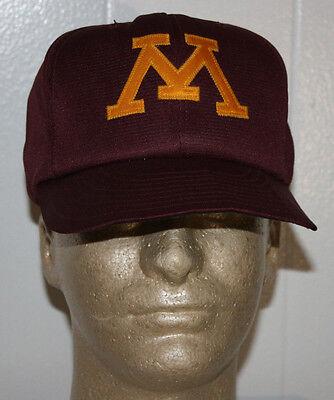 Vintage 80S Minnesota Gophers Baseball Snapback Hat Cap 6 3 4   7 1 8 Pro Model