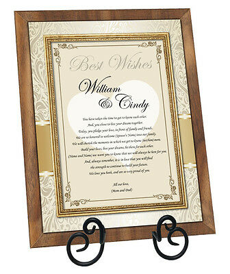 Wedding gift for son & daughter in law or bride groom from parents mother father