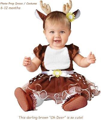 Toddler Infant Xmas Dress / Santa Reindeer Xmas Photo Dress Costume  6-12 months ()