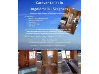Caravan to Let on The Chase Ingoldmells