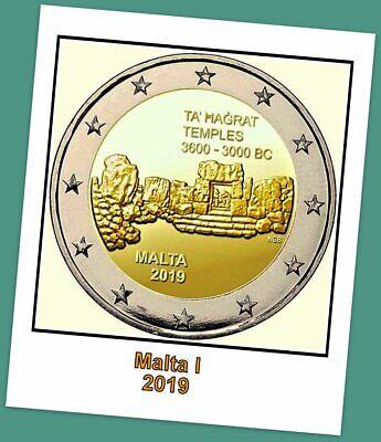 2 Euro Gedenkmünze Malta 2019 - Ta Hagrat Temples -  Vorverkauf