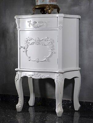 Nachttisch Barock Kommode Antik Konsole Massiv Bett Stil Empire Weiß Landhaus