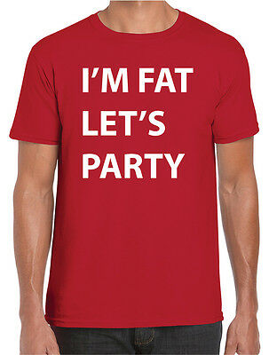Funny Dress For Kids (I'M FAT LET'S PARTY FUNNY T-SHIRT - FANCY DRESS COSTUME FOR MEN,WOMEN AND)