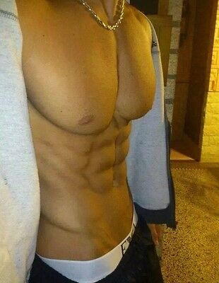 Shirtless Male Very Muscular Jock Pumped Pecs Abs V Line Physique PHOTO 4X6 C827