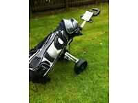 Big Easy Golf Clubs And Bag With Electric Trolley