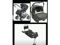 PRAM TO PUSHCHAIR IN CHARCOAL SILVER CROSS