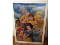 Disney princesses 3D large photo frame for kids bedroom decoration