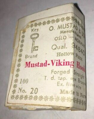 several shapes Vintage Mustad round fly hooks 100 pcs choose among Sz 9-24