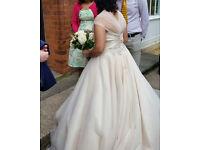 Used beautiful Ronald Joyce used dress Size 16 Champagne colour - Eliza