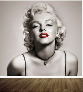 Marilyn monroe wallpaper mural style 1 bedroom feature wall design wm348 ebay - Papier peint maryline monroe ...