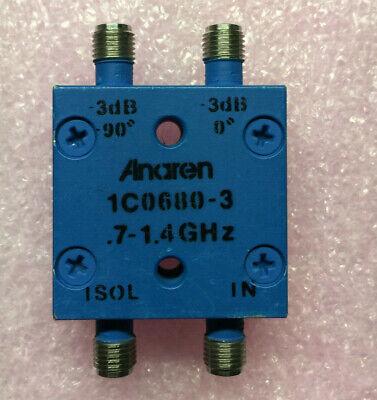 Anaren 1c0680-3 Uhf 90 Degree 3 Db Hybrid Splitter Combiner Sma.7 - 1.4 Ghz