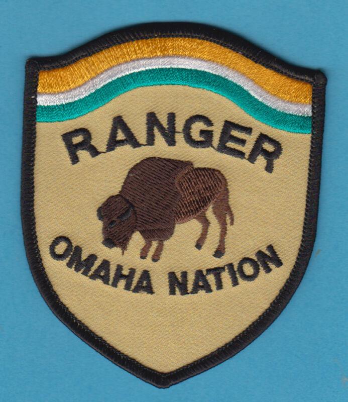 RANGER OMAHA NATION NEBRASKA TRIBAL PATCH BUFFALO