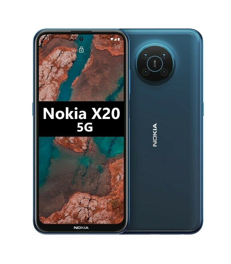 "NOKIA X20 5G 6,67"" 128GB + 8GB RAM DUAL SIM Smartphone Android Nordic Blue"