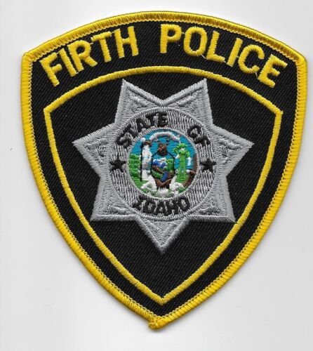 Firth Police State Idaho ID patch