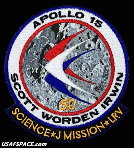 APOLLO-15- LUNAR EXPLORATION -50 YEARS- NASA Commemorative ORIGINAL SPACE PATCH