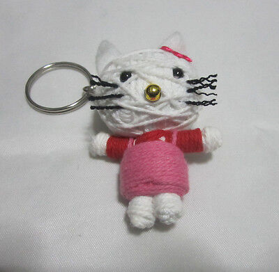 Hello Kitty  Voodoo String Doll Keychain Ornament Accessory(Thai handmade)](Hello Kitty Voodoo Doll)