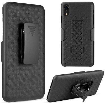 "for iPhone XR (6.1"") - Black Holster Swivel Belt Clip Hard Combo Slim Case Cover segunda mano  Embacar hacia Argentina"