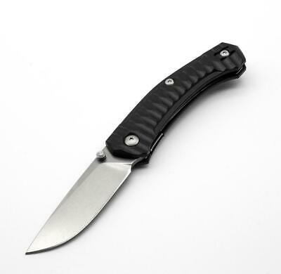 GiantMouse ACE Iona Black FRN / Tumbled Blade Flipper Knife Giantmouse