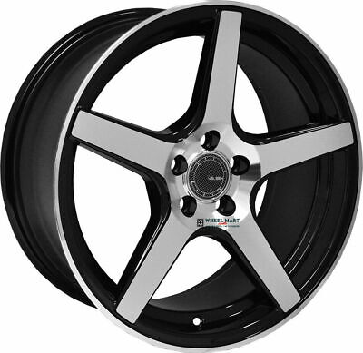 Velsen Wheel 503 18X8 +38 Offest Black & Machined Finish 5 Lugs Set of New!! Black Finish 5 Lug