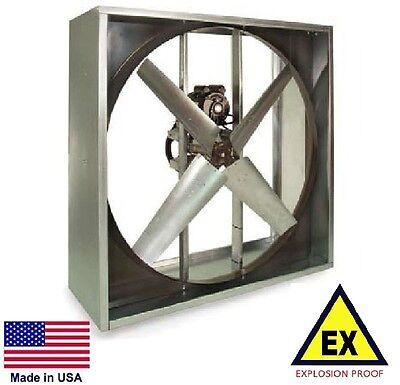 Exhaust Fan - Explosion Proof - Belt Drive - 48 - 115230v - 1 Hp 20600 Cfm