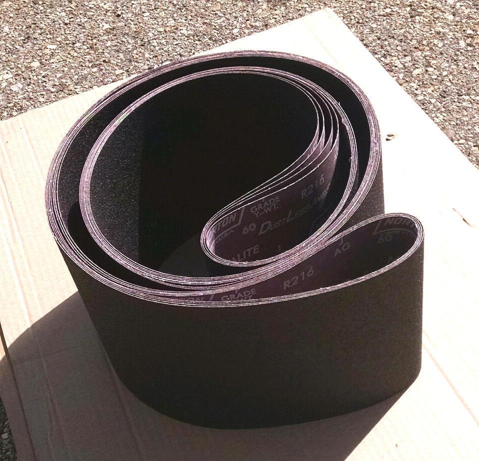 2 sanding belts 8 wide x 150 x 60 grit norton sander