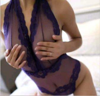 NEW Hot Purple Lace/Mesh High Cut Teddy S/M